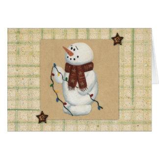 Snowman Large Print Christmas Card