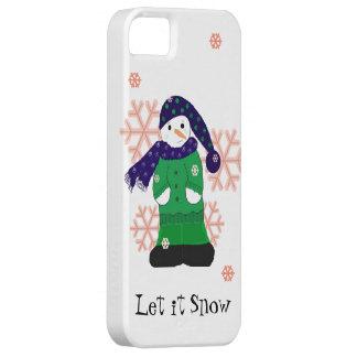 Snowman Let it Snow iPhone 5 Cases