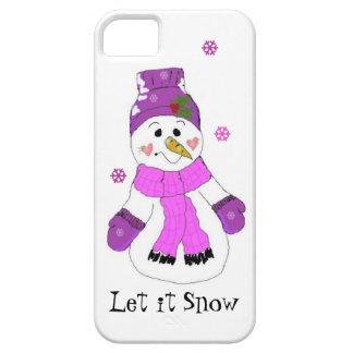Snowman Let it Snow iPhone 5 Cover