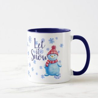 Snowman Let it Snow Mug