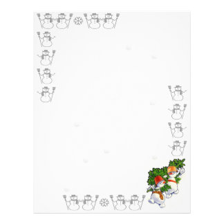 Snowman Letter to Santa Letterhead Design