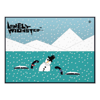 Snowman Lonely Monsters Photographic Print