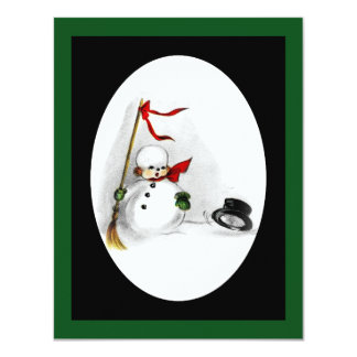 Snowman Loses His Top Hat Card