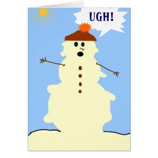 snowman melting card