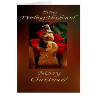 Snowman Merry Christmas  - Husband Card