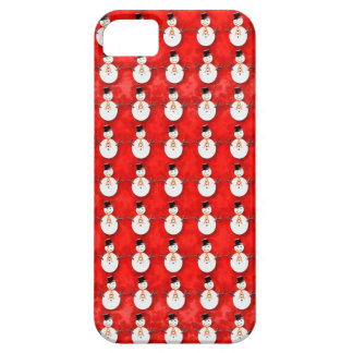 Snowman on Red Case For The iPhone 5