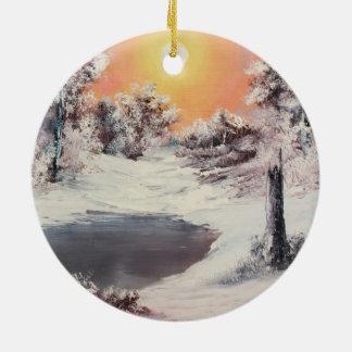 Snowman online ceramic ornament