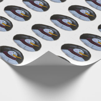 Snowman Painting Matte Wrapping Paper