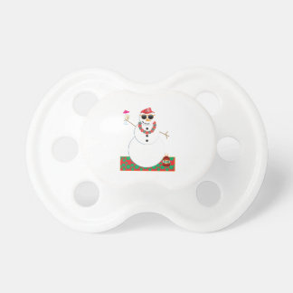 Snowman Party Baby Pacifiers