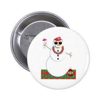 Snowman Party Button