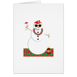 Snowman Party Greeting Card