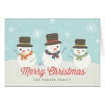 Snowman Party Custom Holiday Greeting Cards Cards