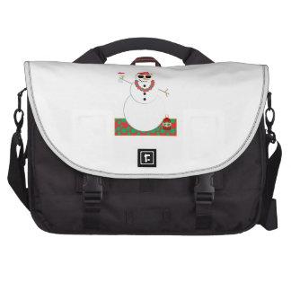 Snowman Party Laptop Bag