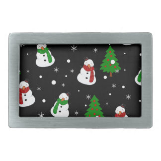 Snowman pattern belt buckles