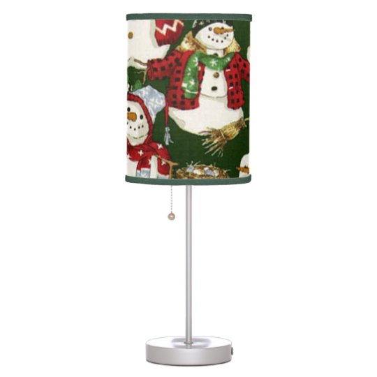 Snowman Pattern Christmas Holiday table lamp