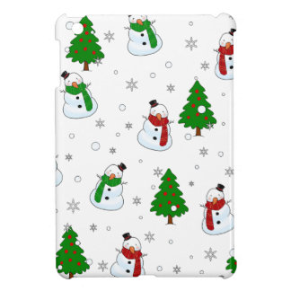 Snowman pattern cover for the iPad mini