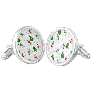 Snowman pattern cufflinks