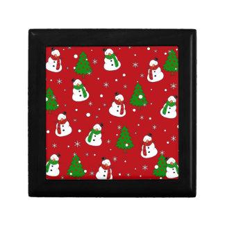 Snowman pattern gift box
