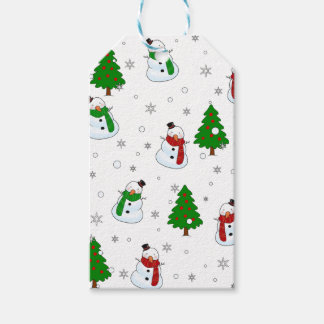 Snowman pattern gift tags