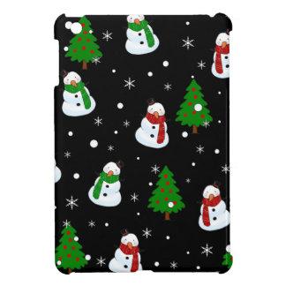 Snowman pattern iPad mini cases