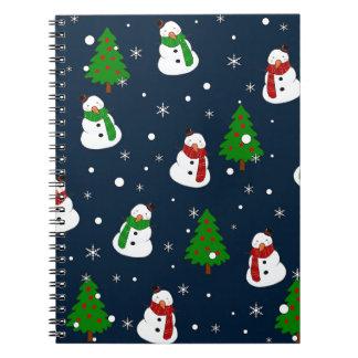 Snowman pattern notebooks