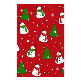 Snowman pattern stationery