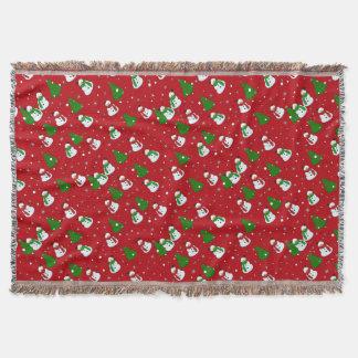Snowman pattern throw blanket