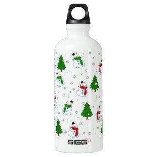 Snowman pattern water bottle