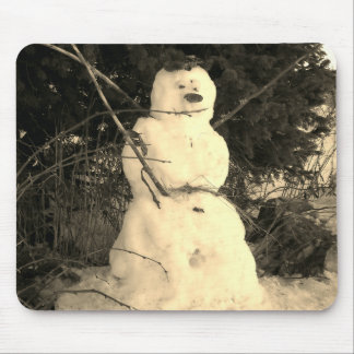 Snowman Photo Mousepad