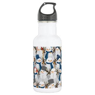 Snowman Pile 532 Ml Water Bottle
