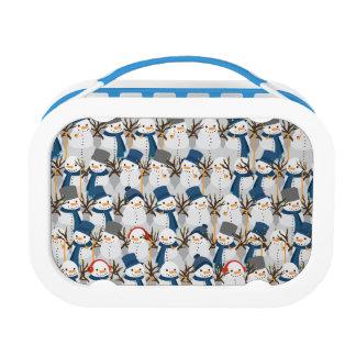 Snowman Pile Lunch Box