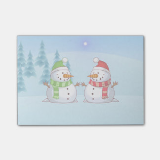 Snowman Playdate Post-it Notes
