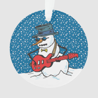Snowman Playing An Electric Guitar