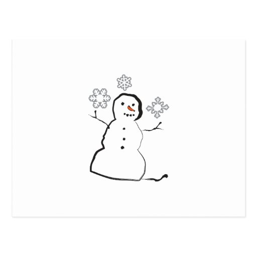 Snowman Post Card