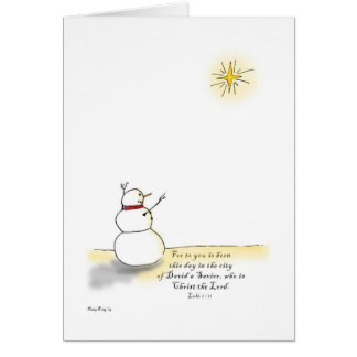 Snowman Praises Card