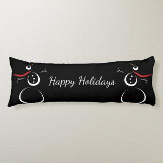 SNOWMAN PRESENTS Happy Holidays Let It Snow Body Pillow