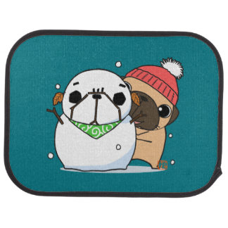 Snowman & Pug set Car Mat