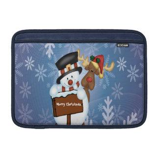 Snowman & Reindeer Customizable MacBook Air Sleeves