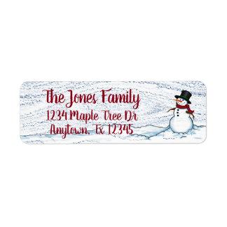 Snowman, return address labels