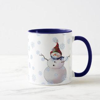 SNOWMAN, SCARF & STOCKING CAP by SHARON SHARPE Mug