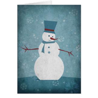 Snowman/Season's Greetings Card