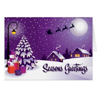 Snowman Seasons Greetings Card