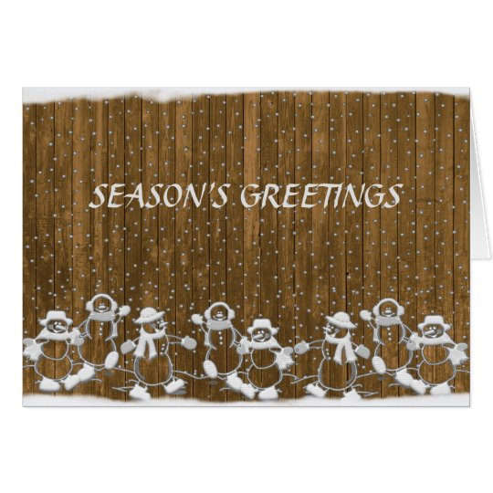 Snowman Seasons Greetings Christmas Card