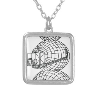 snowman silver plated necklace
