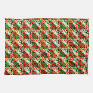 Snowman Slam Kitchen Towel
