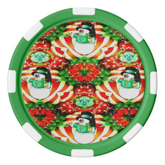 Snowman Slam Poker Chips