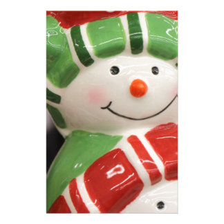 Snowman smiles stationery
