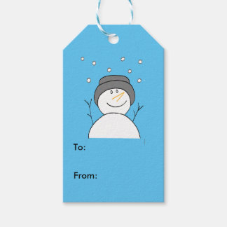 Snowman Smiling Gift Tag Pack Of Gift Tags