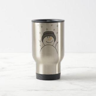 Snowman Smiling Travel Mug