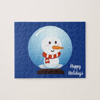 Snowman snow globe jigsaw puzzle